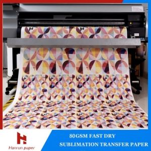 60, 70GSM Fast Dry Sublimation Transfer Paper 200m/Roll for Textile