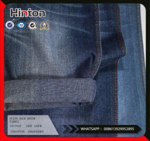 Cheap Plain Slub Denim Fabric 10oz pictures & photos