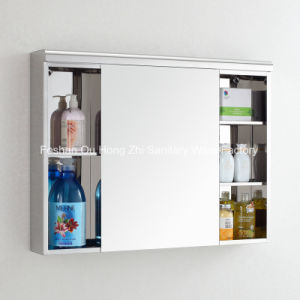Modern Popular Bathroom Stainless Steel Wall Suface Mounted Mirror Cabinet pictures & photos