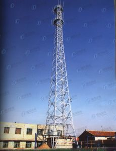 Microwave Lattice Telecom Steel Frame Tower