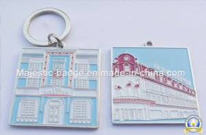 Zinc Die Cast Silver Plated Soft Enamel Keyring/Keychain pictures & photos