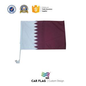Custom National Qatar Car Flag pictures & photos