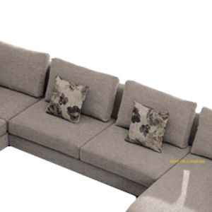 European Style Modern U Shape Fabric Sofa (F832) pictures & photos