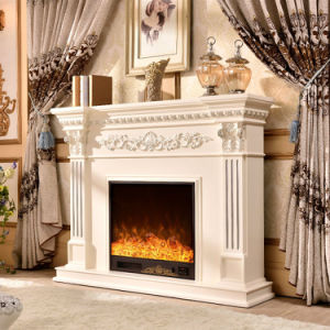 Hotel Furniture Beautiful LED Light Vivid Flame Electric Fireplace (328B) pictures & photos