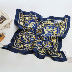 Blue Polyester Satin Scarf pictures & photos