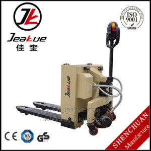 2017 China Heavy Duty 3t Semi Electric Pallet Truck (Pallet Jack) for Sale pictures & photos