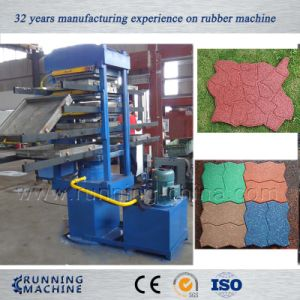 80tons Rubber Tile Vulcanzing Press Machine pictures & photos