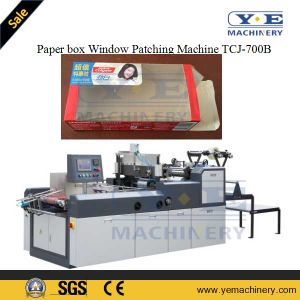 PLC Control Carton Box Window Patching Machine with Angle Cutting pictures & photos