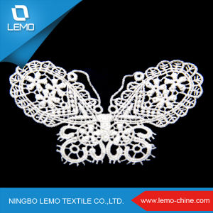 Floral Embroidery Cotton Lace Collar/Water Soluble Lace pictures & photos