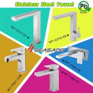 Square Stainless Steel Kitchen Cabinet Sink Faucet Mixer Tap pictures & photos