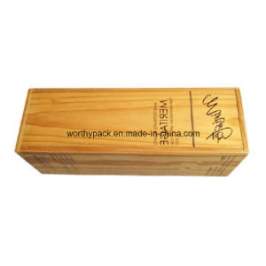 Wooden Wine Bottle Packaging/ Gift Box for Promotion and Advertising pictures & photos