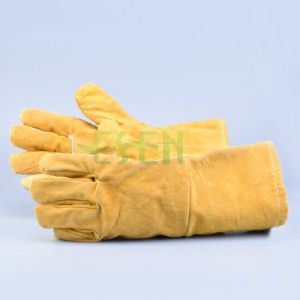 Double Palm Gloves for Worker / Double Palm Leather Gloves for Sale pictures & photos