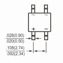 MB6s~MB10s Series Bridge Rectifier for LED Lighting pictures & photos