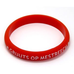 Custom Red Thick Printing Silicone Bracelet for Event pictures & photos