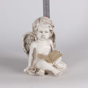Handmade Resin Lovely Sitting Angel Figurine for Home Deco pictures & photos