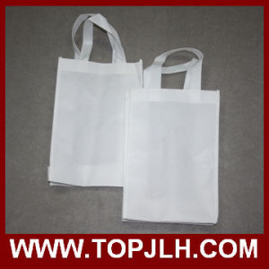 Blank White Non Woven Foldable Sublimation Tote Bag pictures & photos