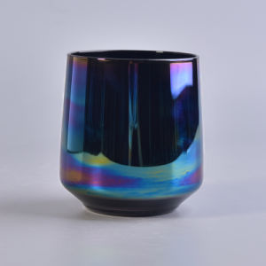 Mouth Blown Votive Glass Candle Holder with Ion Color Plating pictures & photos