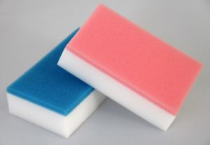 Colorful Two Layer Melamine Sponge pictures & photos