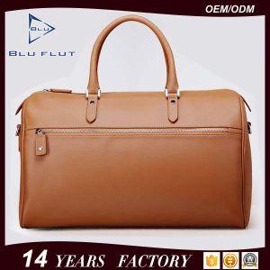 Fashion Custom Logo Design Bag Genuine Leather Travel Duffle Handbag for Men pictures & photos