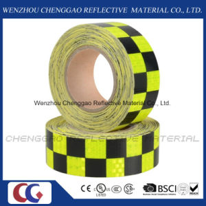 Luminous Fluorescent Checkered Reflective Tape for Traffic Sign (C3500-G) pictures & photos
