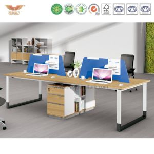 Modern Office Workstation Partition Cubicles with Side Cabinet (H90-0215)