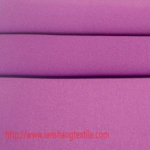 Garment Fabric Plain Dyed Polyester Fabric for Ladies Dress, Coat, Blouse, Scarf pictures & photos