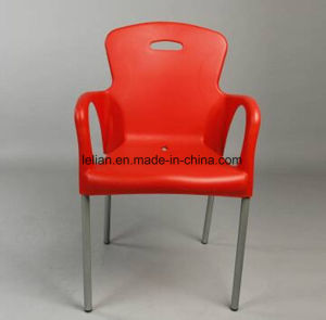Restaurant Plastic Metal Dining Chair with Arerest (LL-0047A) pictures & photos