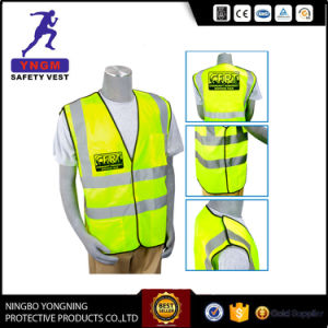 Fluorescent Reflective Safety Clothing Road Safety Vest with Strip pictures & photos