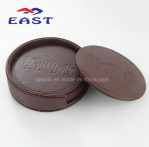 High Quality Promotional Custom PU Leather Cup Coaster pictures & photos