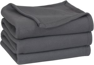 Grey Color Home Textile Bedding Fleece Blanket pictures & photos