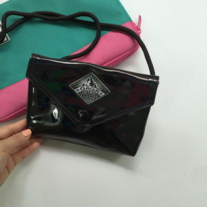 Flash Black PU Women Hand Bag (M009-6)