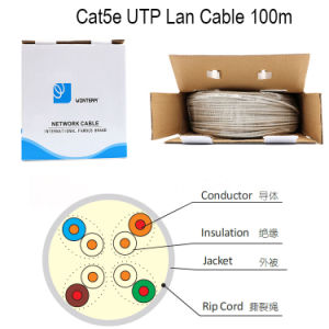 Wonterm Cat5e Network Cable 0.5mm Pass Fluke Grey pictures & photos
