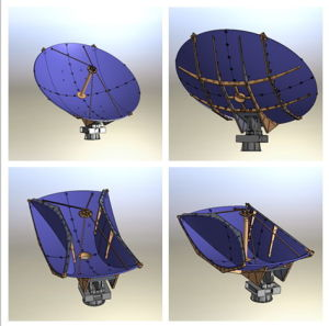 4.5m Foldable Carbon Fiber Vehicle-Mounted Satellite Antenna pictures & photos