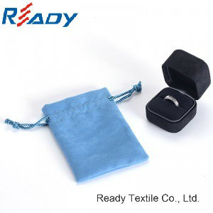 High Quality Blue Velvet Drawstring Pouch for Gift&Jewelry pictures & photos