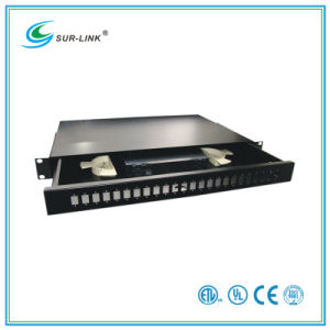 Sc Type Fiber Optic Patch Panel 24 Ports 19′′ 1u Drawer Style pictures & photos