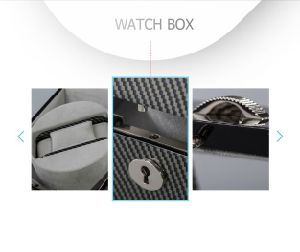 Modern Durable Wooden Watch Display Case with Visible Window pictures & photos