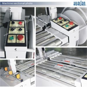 Hualian 2017 High-Table Automatic Strapping Machine for Production Line (KZW-8060/D) pictures & photos
