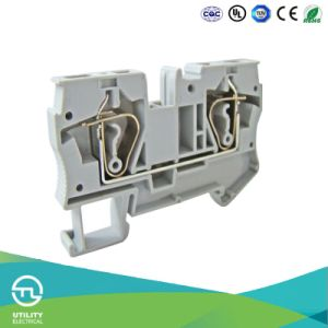 Rail Mounted UPS Plastic DIN-Rail Terminal Blocks pictures & photos
