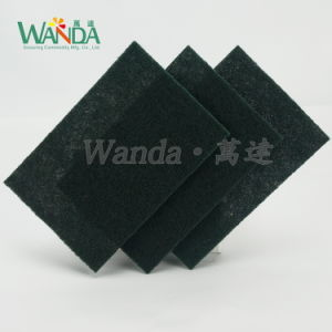 Dark Green Non-Abrasive Kitchen Cleaning Scouring Hand Pad pictures & photos