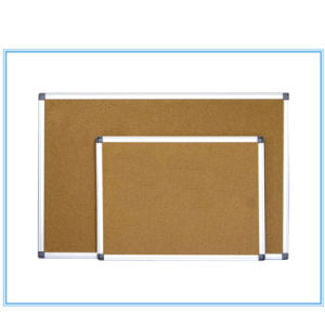 Aluminum Frame Magnetic Cork Board Notice Board pictures & photos