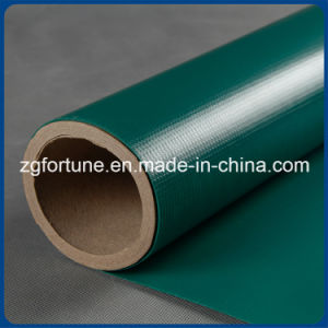 Power Industry Waterproof Green PVC Coated Tarpaulin Fabric pictures & photos