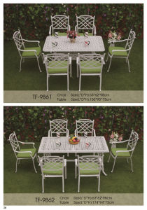 Outdoor Patio 7PC Whtie Color Cast Aluminum Dining Set