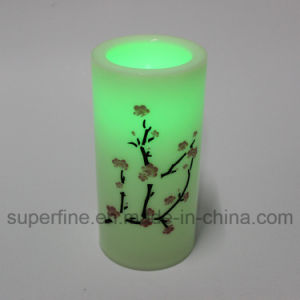 Beautiful Pillar Electric Flameless Church Imitation Glittering LED Candles pictures & photos