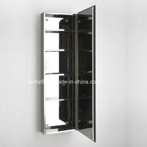Stainless Steel Bathroom Cabinet with Long Makeup Mirror 7057 pictures & photos