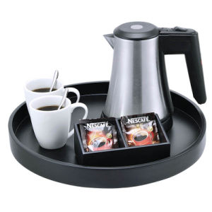 0.5L Electric Kettle with Round Wooden Trays pictures & photos