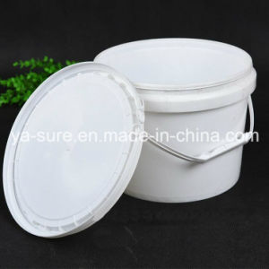 6L Round Plastic Packaging Bucket with Handle pictures & photos