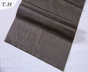 2017 Shiny Brown Suede Leather Fabric for Sofa and Chair pictures & photos