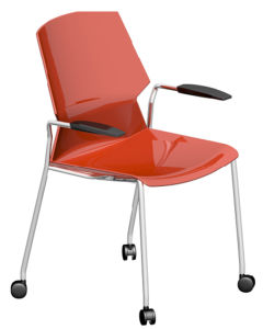 Colored Plastic School Library Student Study Training Chair pictures & photos