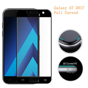 3D Full Curved Tempered Glass for Samsung Galaxy A7 2017 A720 pictures & photos
