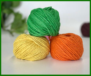 Dyed Jute Fiber Yarn (Green) pictures & photos